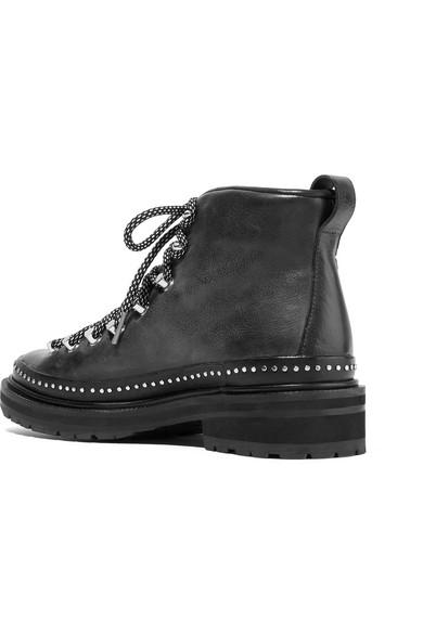 rag & bone Compass II Ankle Boots aus Leder mit Nieten