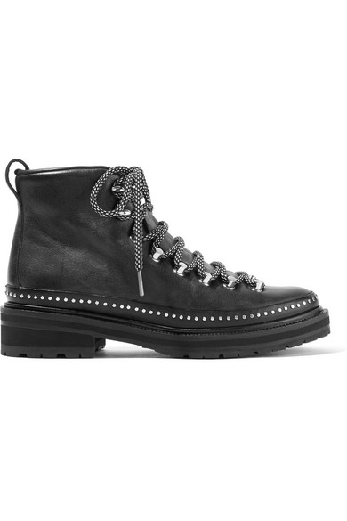 rag & bone - Compass Ii Studded Leather Ankle Boots - Black