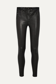 rag & bone High-rise leather skinny pants