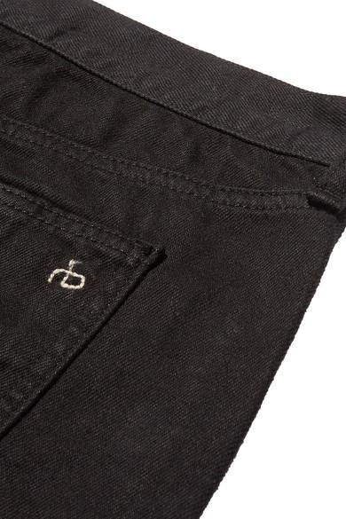 rag & bone Abgeschnittene Jeansshorts mit Fransen