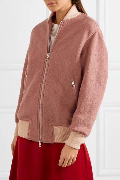 4d13832b3 Elle felted wool-bouclé bomber jacket