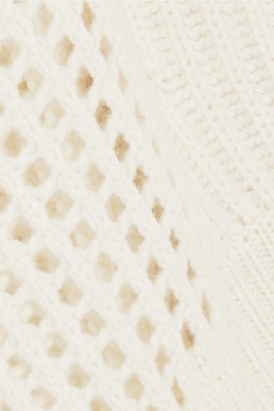 rag & bone Athena gerippter Kaschmirpullover mit Lochstrickpartien