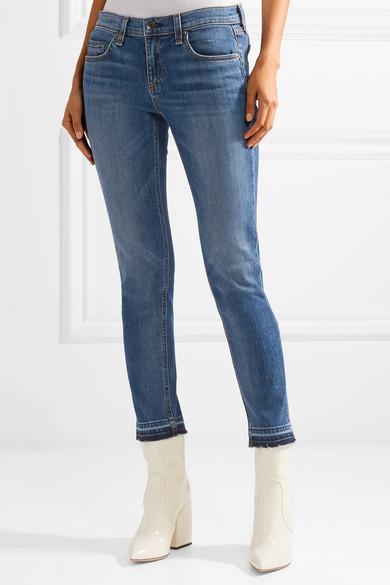 rag & bone The Dre Capri halbhohe Jeans mit schmalem Bein und Fransen