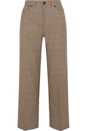 Sadie houndstooth wool wide-leg pants
