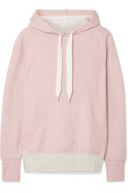 rag & bone Color Blocked cotton-terry hooded top