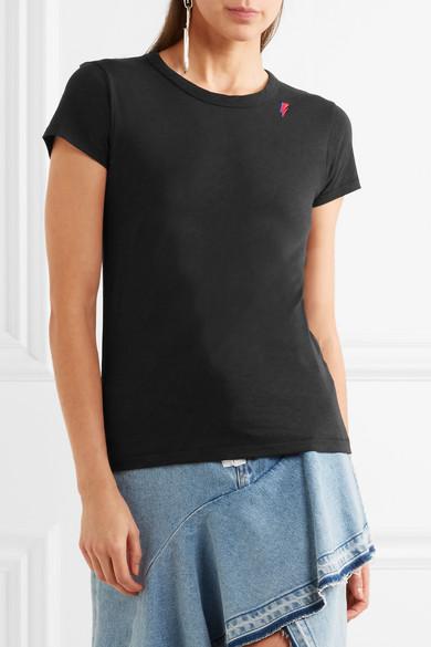 rag & bone T-Shirt aus Pima-Baumwolle mit Stickerei