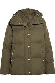 rag & bone Leonard lace-up hooded quilted shell down jacket