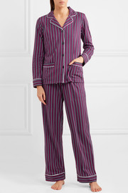 New Classic striped cotton-blend jersey pajamas