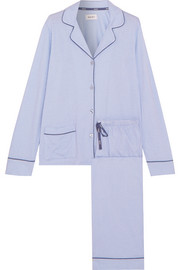 DKNY New Classic striped cotton-blend jersey pajamas