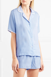 Never Sleeps washed-satin pajama set