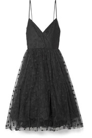 J.Crew Embroidered tulle midi dress