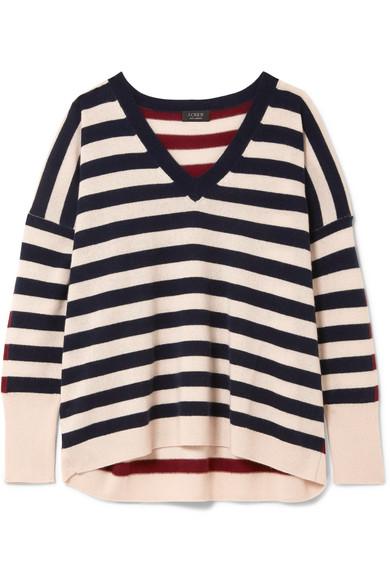 J.Crew - Rosalyn Striped Cashmere Sweater - Ivory