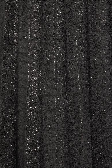 J.Crew Sweetbriar Minirock aus plissiertem Lamé aus einer Baumwollmischung