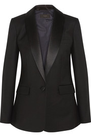 J.Crew Hugh satin-trimmed wool-blend twill blazer