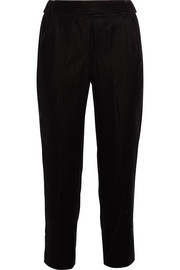 J.Crew Cropped velvet straight-leg pants