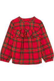 J.Crew Gelder ruffled tartan cotton-flannel shirt