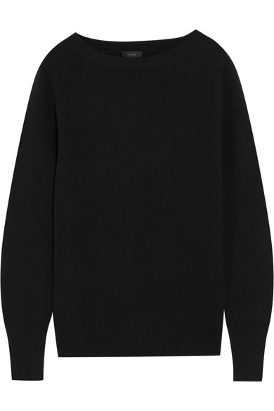 J.Crew - Orchard Merino Wool And Cotton-blend Sweater - Black