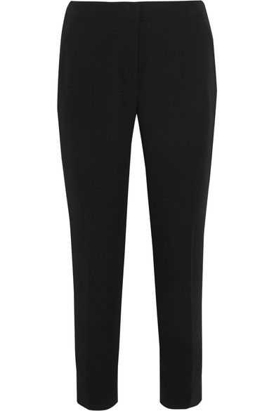 J.Crew - Cropped Crepe Tapered Pants - Black