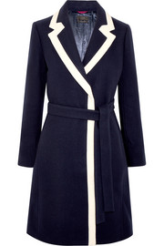 J.Crew Two-tone wool-blend coat