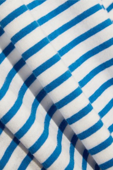 J.Crew Tissue gestreiftes Rollkragenoberteil aus Baumwoll-Jersey