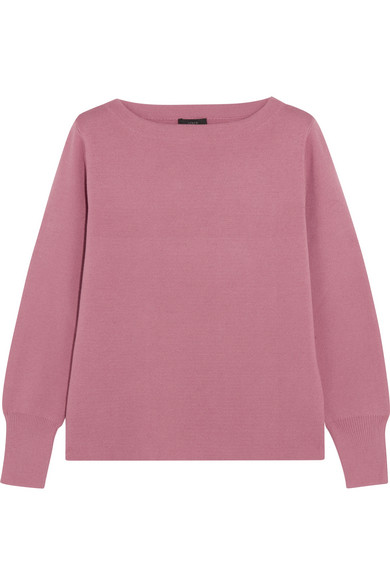 J.Crew - Orchard Merino Wool And Cotton-blend Sweater - Pink