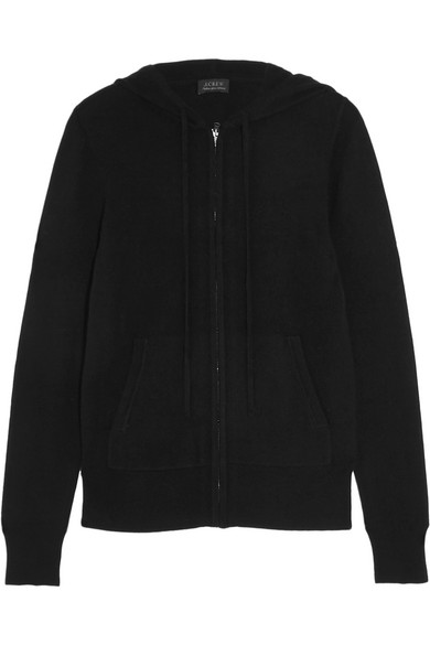 J.Crew - Cashmere Hooded Top - Black