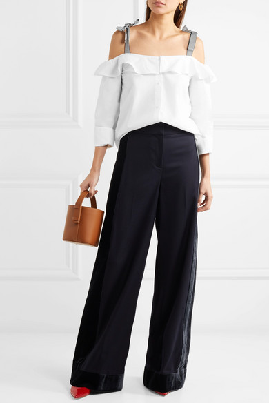 J.crew Hoot Uppers Of Cotton Poplin With Ruffles And Cut-outs