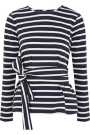 J.Crew Striped cotton-jersey top