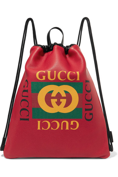 d8634d4dc1eb Gucci | Printed textured-leather backpack | NET-A-PORTER.COM