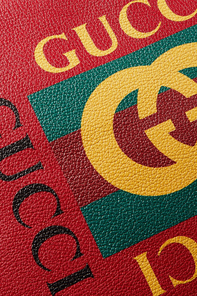Verkauf Komfortabel Gucci Bedruckter Beutel aus strukturiertem Leder Auslass Bester Preiswerter Großhandelspreis Xv80JnlN