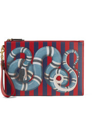 Gucci Merveilles printed textured-leather pouch