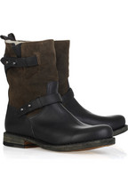 Rag & bone Moto leather and suede boots
