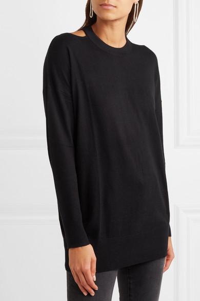 Splendid Canarise Pullover aus Stretch-Strick mit Cut-outs