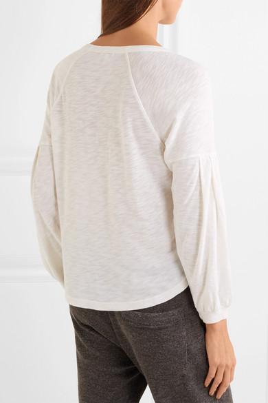 Splendid Jersey-Oberteil aus einer Mischung aus einer Mischung aus Supima®-Baumwolle und MicroModal® mit Flammgarneffekt