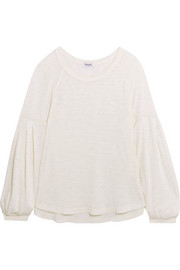 Slub Supima cotton and Micromodal-blend jersey top
