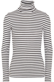 Venice striped stretch-jersey turtleneck top