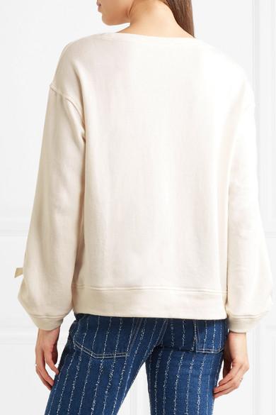 Splendid Madison Avenue Sweatshirt aus Baumwoll-Jersey mit Schleifendetails