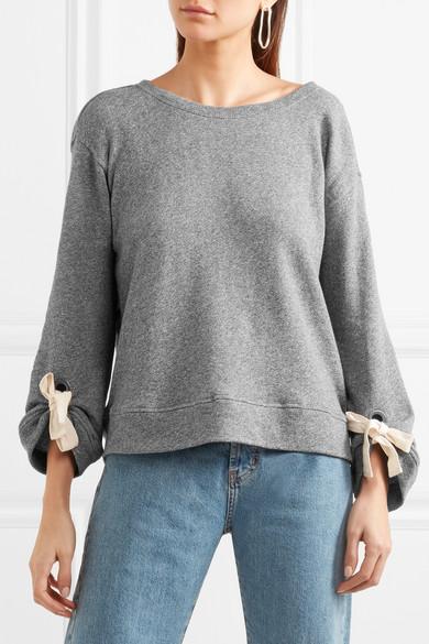 Splendid Madison Avenue Sweatshirt aus Baumwoll-Jersey mit Zierschleifen Billige Finish Freie Verschiffen-Spielraum Wirklich Online-Verkauf XBVkZ5Lec