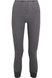 Nordic waffle-knit stretch-Micro Modal and cotton blend leggings