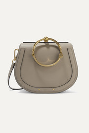 Nile Bracelet medium textured-leather and suede shoulder bag