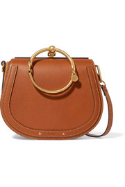 Chloé Nile Bracelet medium leather and suede shoulder bag