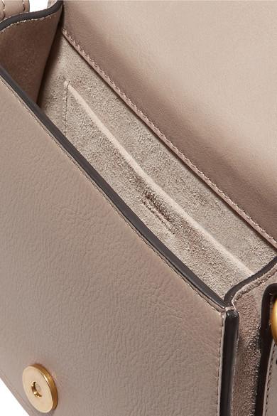 Chloé Nile Bracelet kleine Schultertasche aus strukturiertem Leder und Veloursleder