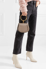 Nile Bracelet small textured-leather and suede shoulder bag