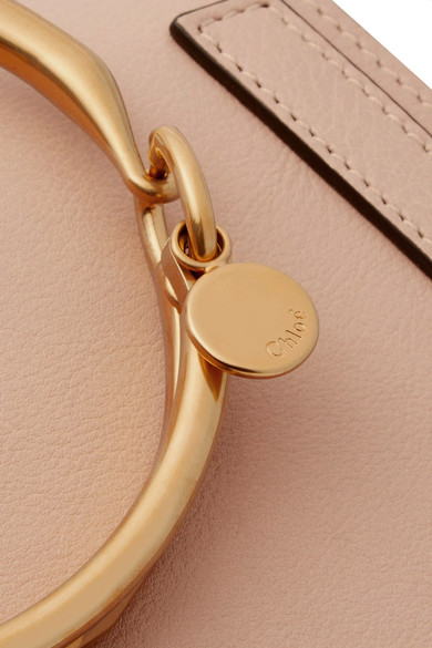 Chloé Nile Bracelet Schultertasche aus Leder und Veloursleder