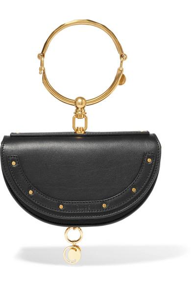 Chloé Nile Bracelet Small Shoulder Bag Made Of Textured Leather