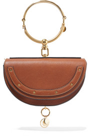 Nile small textured-leather shoulder bag