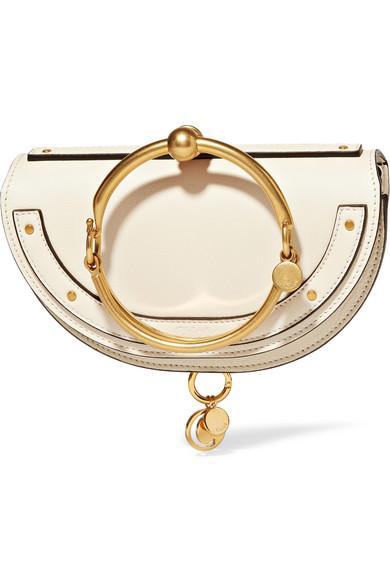Chloé Nile Bracelet mini Schultertasche aus strukturiertem Leder
