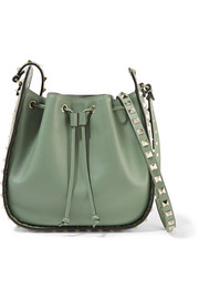 Valentino The Rockstud leather bucket bag