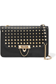 Valentino Demilune medium studded leather shoulder bag