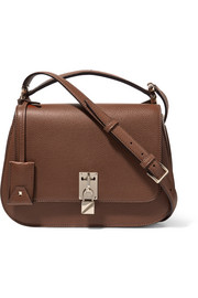Piper textured-leather shoulder bag